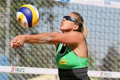 Indre Sorokaite of Italy receives a ball