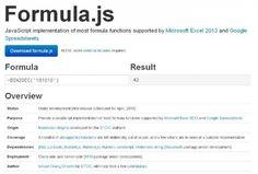 Ensemble de Fonctions et formules de tableurs supporté par JavaScript - Formula.js - http://twit.lu/rx