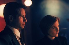 "Mulder et Scully dans ""The X-Files"""