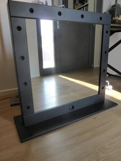 Vanity mirror with lights – makeup mirror wall hanging or stand alone – Hollywood style mirror for makeup addicts – miroire maquilleuse - Spiegel Dressing Room Mirror, Beauty Room, Vanity Mirror, Mirror With Lights, Decor Inspiration, Mirror Wall, Lights, Diy Vanity Mirror, Diy Mirror
