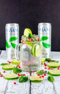 Ring in the holidays with this festive non-alcoholic Sparkling Lime Mint Pomegranate Drink that is sure to make your holiday guests bubble over with joy!  #NewWayToSparkle #ad via @flavormosaic