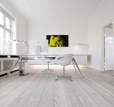 All white in the office with Dinesen Douglas.