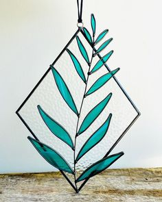 Green stained glass decor #colourfulhomedecor #green #stainedglass