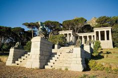 Die Rhodes-gedenkteken, Kaapstad