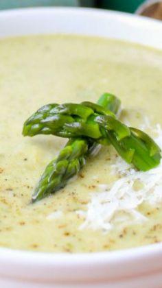 Simple Asparagus Soup -- sounds delicious! Use sour cream