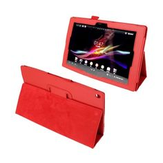 Simple (Red) Sony Xperia Tablet Z 10.1 Leather Flip Case