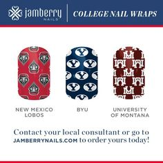 College football nail art wraps are here more coming watch for them here http://wrapmynails2.jamberrynails.net/