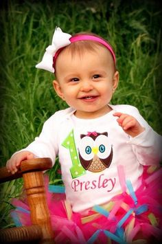 I have to get one of these for MJ!! Owl Birthday - Owl Birthday Shirt with Child's Name - Short Sleeve. $22.95, via Etsy.