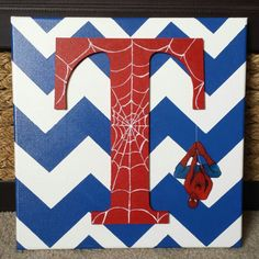 SpiderMan Chevron Canvas by EpicKreations on Etsy, $35.00