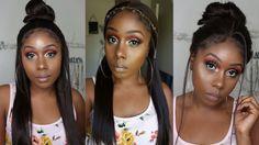 $48 😲 Outre Lace Front Wig 4Way Part Swiss X Vixen YAKI + 12 Styles!!! (SamsBeauty.com) - YouTube