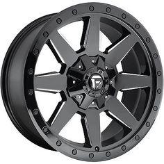 20x10 Black Milled Fuel Wildcat 8x6.5 -18 Wheels Discoverer STT Pro 35 Tires