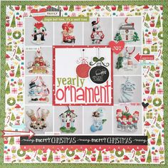 yeary ornament scrapbook page using Bella Blvd by thecreativecopycat
