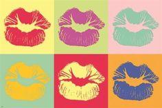 pop art KISS classic poster CUTE COLORFUL COLLECTORS symbolic sexy 24X36 HOT