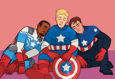 Image: Sam Wilson, Steve Rogers, and Bucky Barnes... - things for ...