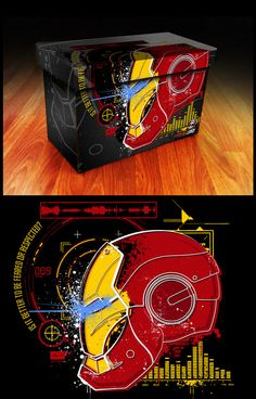 Iron Man Avengers Comic Book Box - these are freakin amazing.