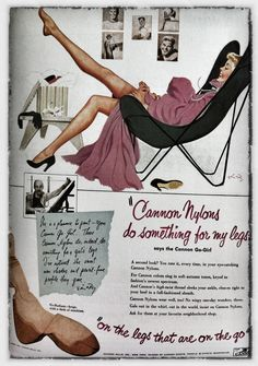 www.mid-century-home.com Cannon Nylons Ad.