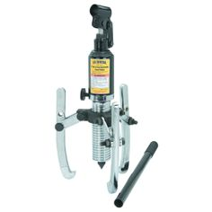 This hydraulic gear puller is designed for heavy duty jobs. Three reversible jaws for inside or outside pulling. Slide Hammer, Drawing Machine, Camp Pendleton, Hex Key, Shop Organization, Used Tools, Small Engine, Mechanical Engineering, Tools And Equipment