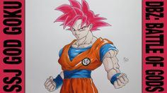 Drawing Time Lapse: SSJ God Goku (Dragon Ball Z: Battle of Gods) ドラゴンボール...