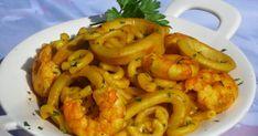 Un plato con pocos ingredientes, pero que resulta sabrosísimo, Fideuá de calamares olla GM.
