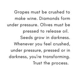 Your transforming under pressure.