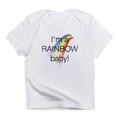 rainbowbaby Infant T-Shirt I'm a rainbow baby Infant T-Shirt by Evil Genius Woman - CafePress Baby Due, First Baby, Caps For Women, T Shirts For Women, Wanting A Baby, Evil Geniuses, Infant Loss, Rainbow Baby, Little Babies