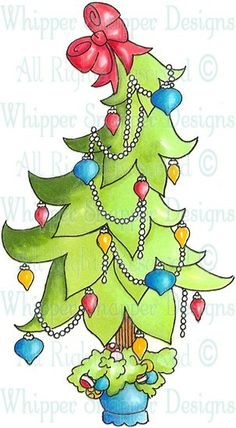 Twirl Tree - Christmas Images - Christmas - Rubber Stamps - Shop