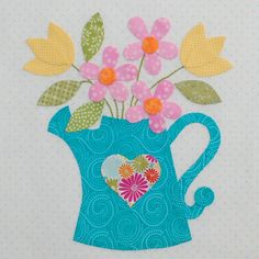 Be Happy Applique Block 4 by Erin Russek at One Piece at a Time