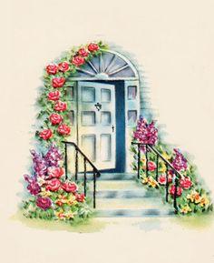 My Vintage Mending: Back at my door...