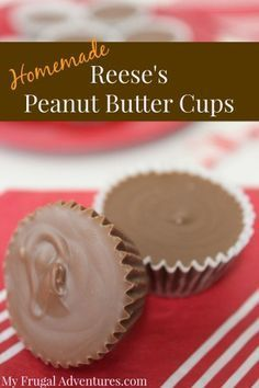 Easy Homemade Reese's Peanut Butter Cups Recipe- customize this exactly to your tastes in just minutes. Dark chocolate, milk chocolate, white chocolate-- these are heavenly!