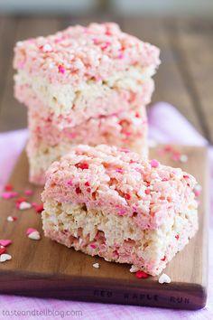 Layered Strawberry Sprinkles Krispies