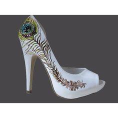 Good peacock wedding shoes