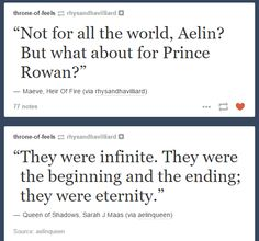 Heir of Fire and Queen of Shadows