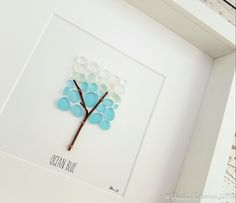 Ocean Blue - Created from handpicked Seaham Sea Glass. Colour - Cyan (Rarity 9) https://www.etsy.com/uk/listing/491759598