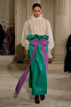Those pants are the worst >> The complete Valentino Spring 2018 Couture fashion show now on Vogue Runway.