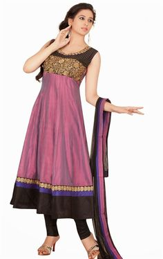 Picture of Exquisite Pale Wine Color Anarkali Suit