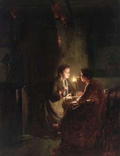 TWO LADIES BY CANDLELIGHT By Johannes Rosierse
