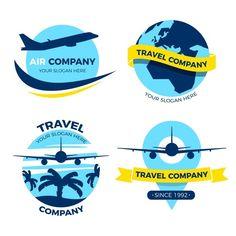 Logo Voyage, Travel Slogans, Air Company, Destination Voyage, Travel Companies, Logos, Logo Design, Vector Freepik, Diy