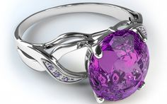 Amethyst ring - purple, ring, pink, white, silver, amethyst, jewel