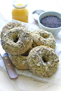 Gluten-Free Vegan Everything Bagels - Fork & Beans