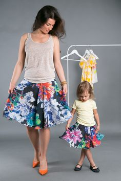 NIGHT FLOWER SKIRT - the Same wear for mom and doughter