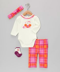 Take+a+look+at+the+Pink+Go+Team!+Monkey+Bodysuit+Set+-+Infant+on+#zulily+today!