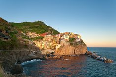The Cinque Terre's small villages, like the town of Manarola here, are easily reached from Florence or Milan