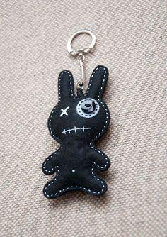 Similar Items like Little Monster with White Heart - Keychain Pendant, felt zombie on Etsy - - Felt Diy, Felt Crafts, Fabric Crafts, Sewing Crafts, Sewing Projects, Felt Monster, Monster Dolls, Felt Keychain, Felt Bookmark