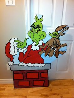 Grinch Christmas yard art