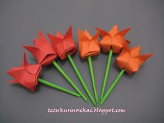 Origami tulip flower *tutorial is coming soon*