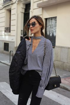 gingham shirt looks - Lady Addict