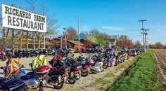 Life Lessons on the Moonshine Lunch Run - The evening before MLR, riders gather at Richards Farm Restaurant for dinner and fellowship.