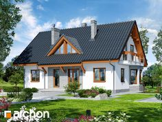 Dom w melisie Japan Modern House, Minimalist Home, Home Fashion, My House, House Plans, Villa, Cabin, Mansions, Future