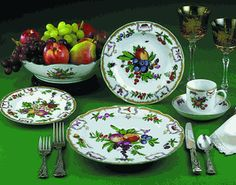 Mottahedeh-This is my favorite brand and name of china. (Duke of Gloucester). It is fine porcelain.
