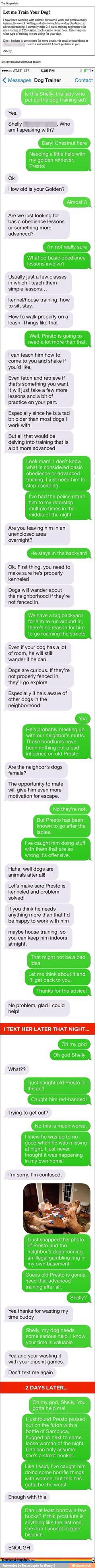 Dog trainer...dying  #lol